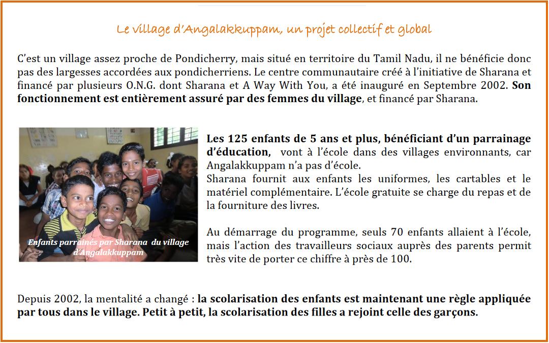 Lettre «Parrainage éducation» – JANVIER 2014