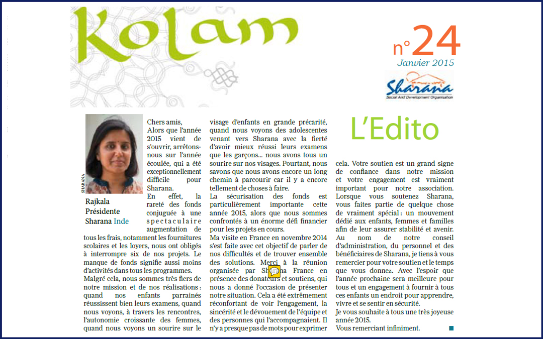 Journal « Kolam » n°24