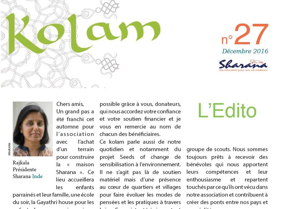 Journal « Kolam » n°27