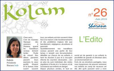 Journal «Kolam» n°26