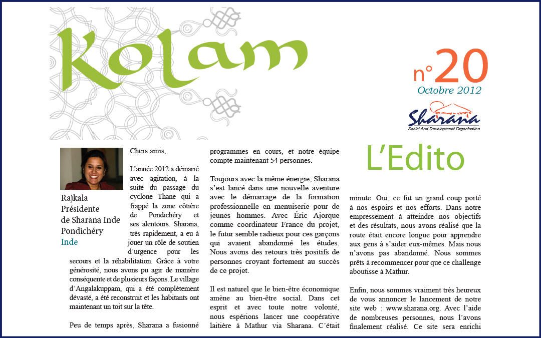 Journal « Kolam » n°20
