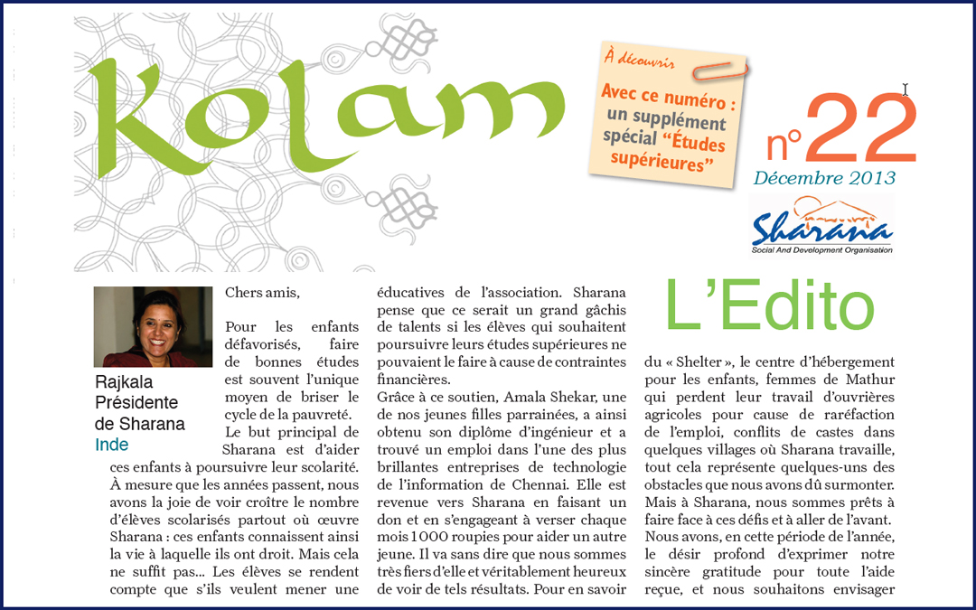 Journal « Kolam » n°22