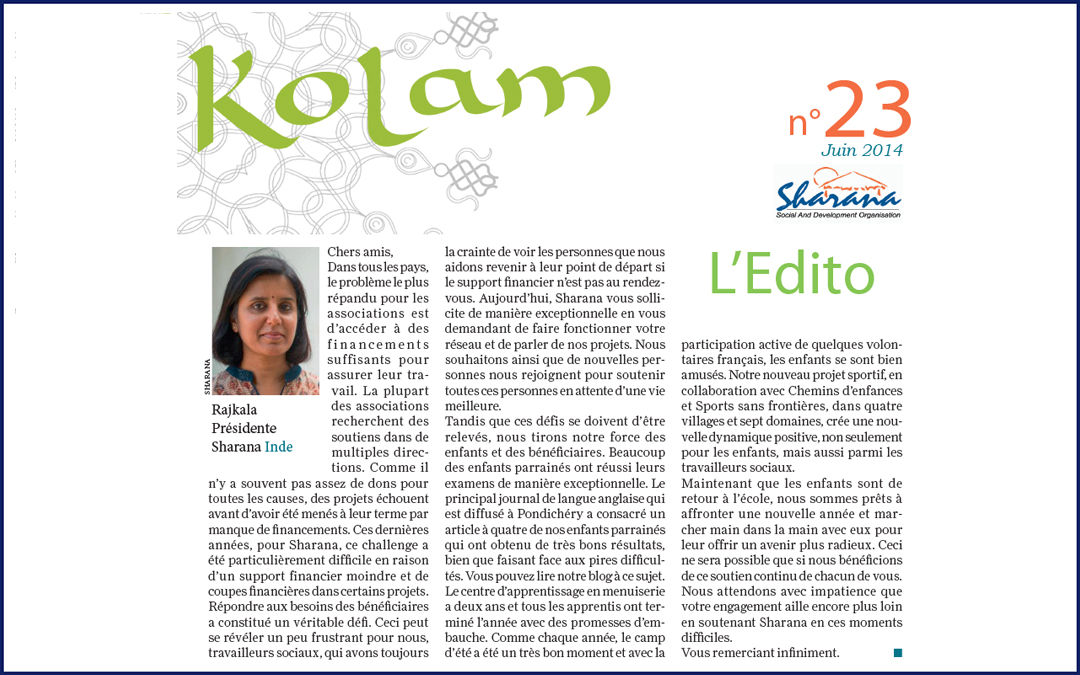 Journal « Kolam » n°23