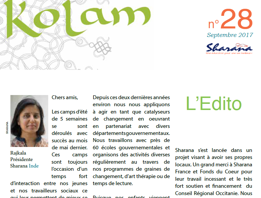 Journal « Kolam » n°28