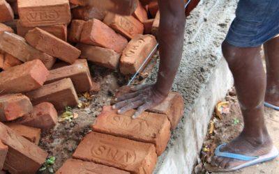 La Maison Sharana : Construction du premier étage