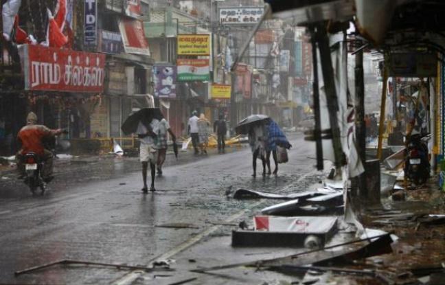 Cyclone sur Pondichéry