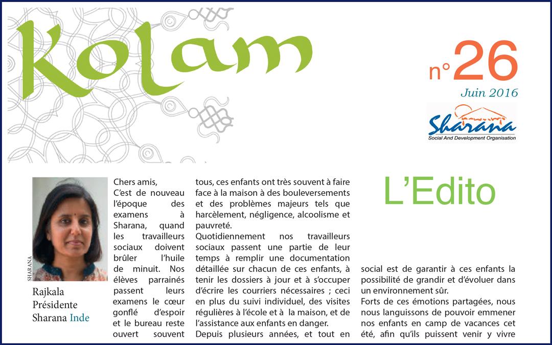 "Journal ""Kolam"" n°26"