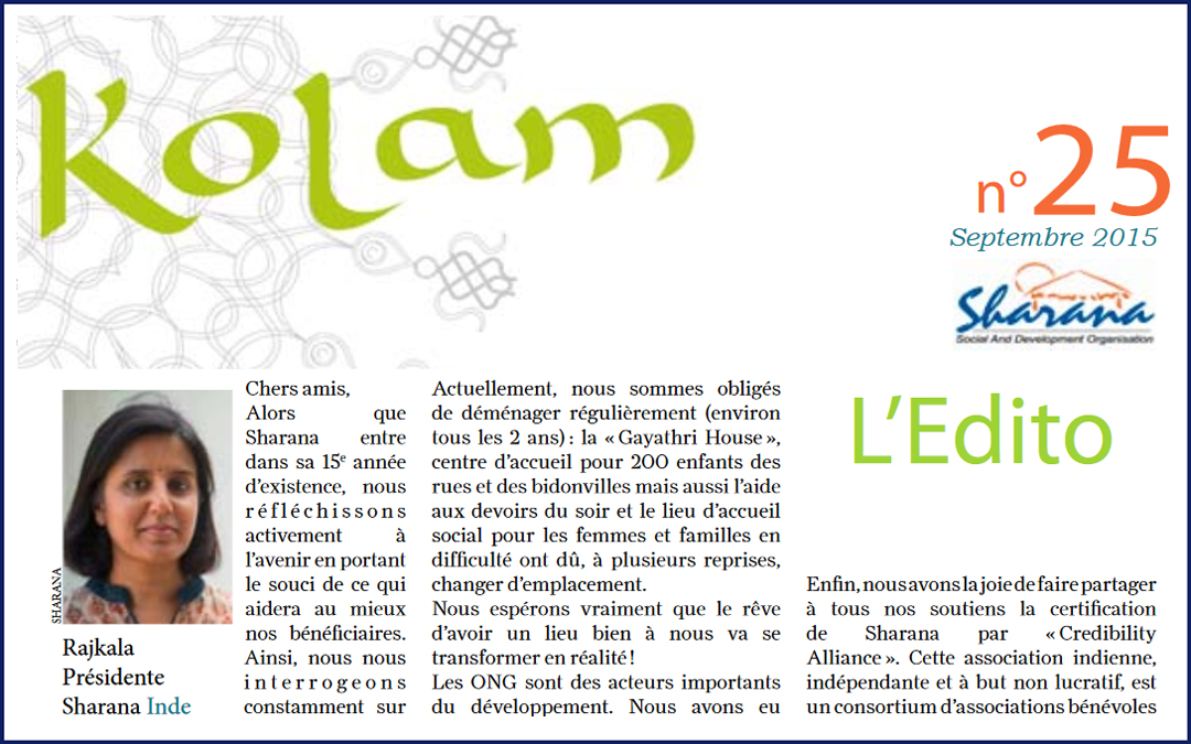 Journal «Kolam» n°25