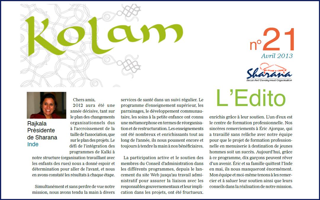 Journal «Kolam» n°21