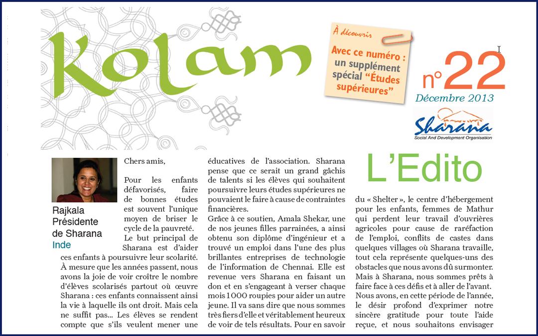 Journal «Kolam» n°22